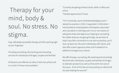 Therapy space picture #1 for Amanda Rausch, therapist in Washington